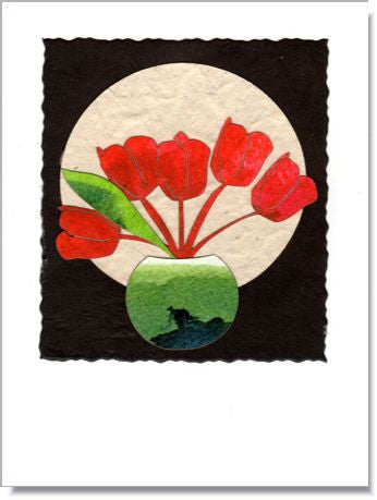 Tulip Moon Greeting Card  959