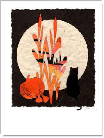 Harvest Moon Handmade Greeting Card ~ 966