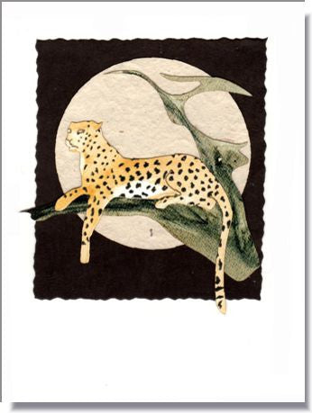 Leopard Moon Greeting Card ~ 975