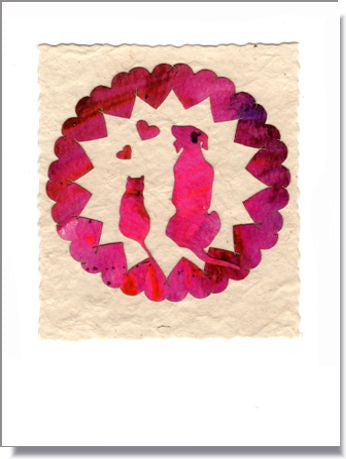 Heart Wheel Greeting Card ~ 980