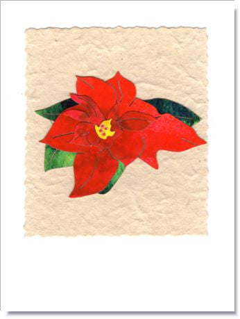 Poinsettia Greeting Card ~ 981