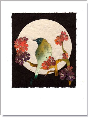 Nightingale Moon Greeting Card ~ 999