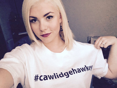 HUGE SALE!!! #CawlidgeHawkey Crew T-Shirt (White)