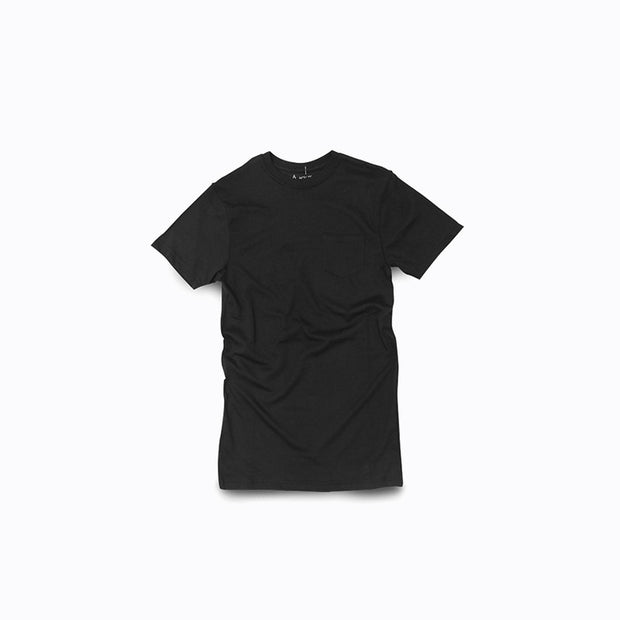 North & Acrux Black Pocket Tee