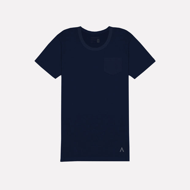 North & Acrux Navy U-Neck Tee