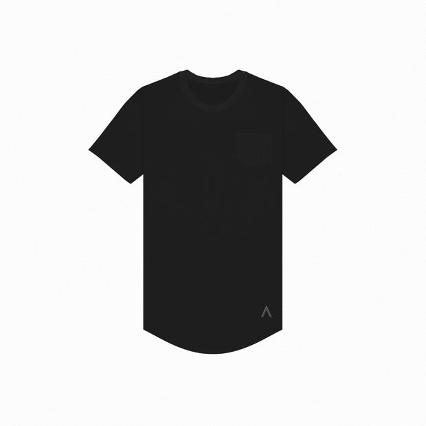 North & Acrux Black Premium Scoop Tee