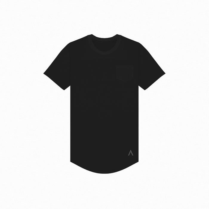 Black Premium Scoop Tee