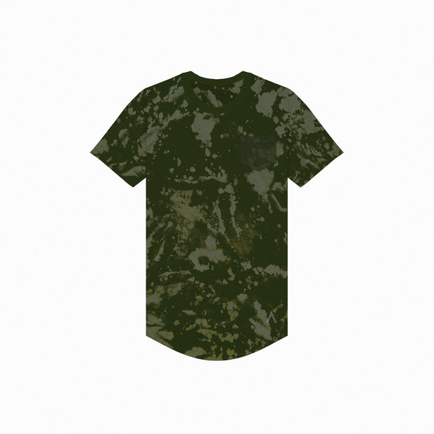 North & Acrux Moss Cloud Bleach Scoop Tee
