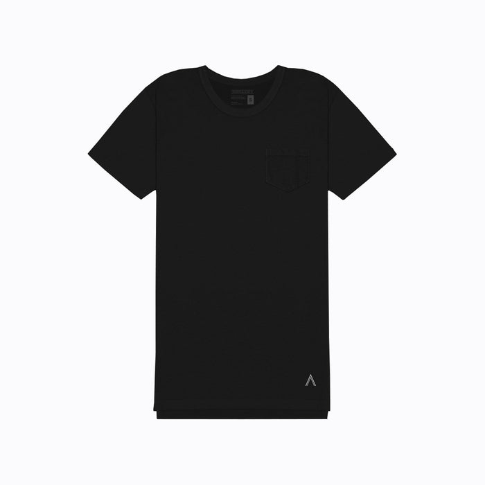 North & Acrux Black Split Hem Tee