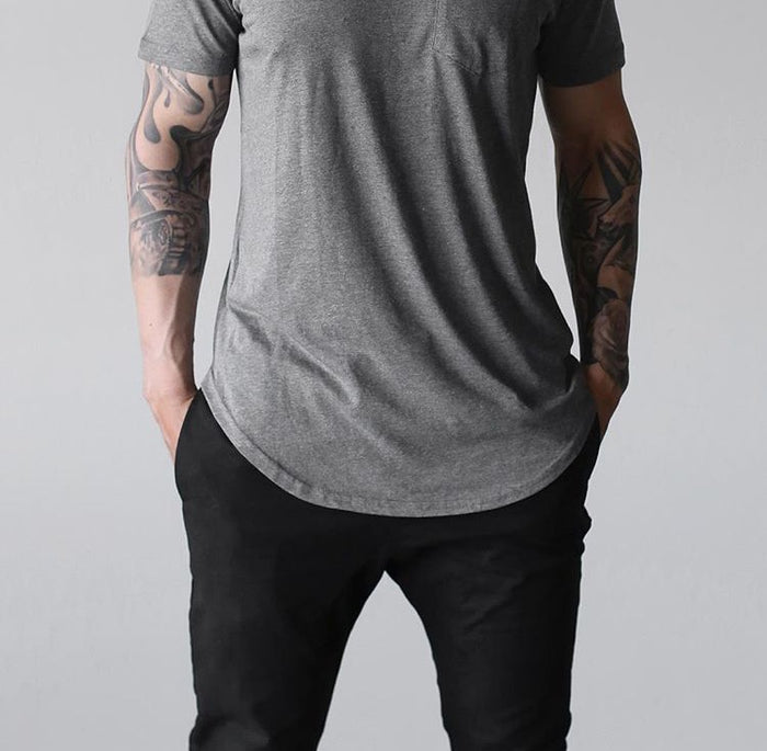 Grey Premium Scoop Tee