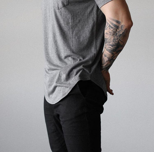 North & Acrux Grey Premium Scoop Tee