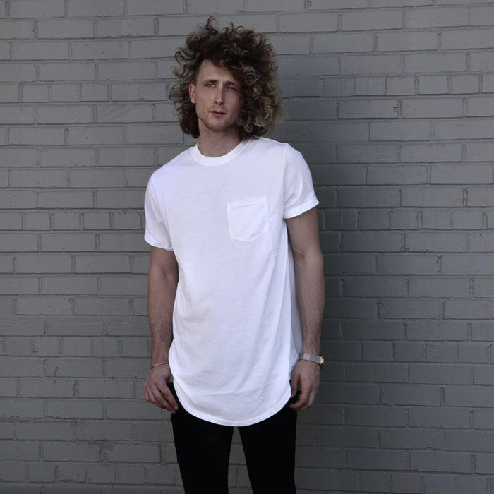White Premium Scoop Tee