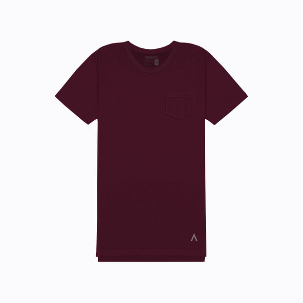 North & Acrux Maroon Split Hem Tee