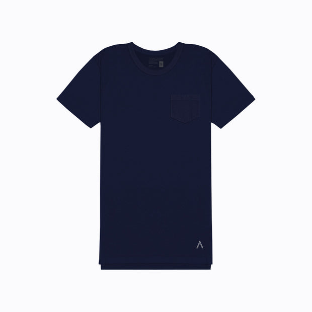 North & Acrux Navy Split Hem Tee