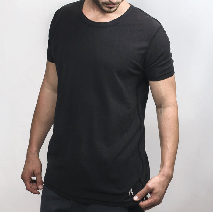 Black Inside Out Tee