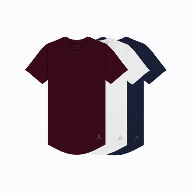 North & Acrux Maroon, White, Navy Pack Special Tees
