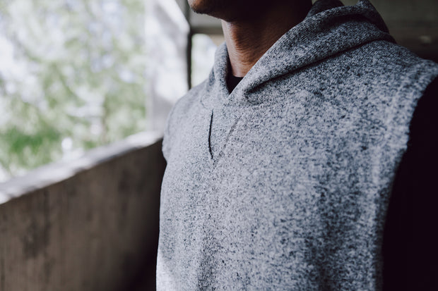 Milled Fleece Sleeveless Hoodie