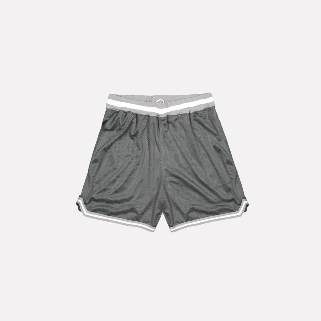 North & Acrux Grey Mesh Basketball Shorts