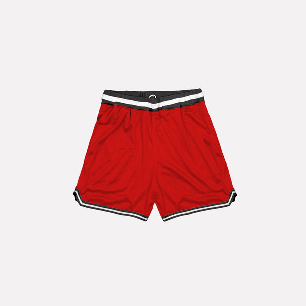 North & Acrux Red Mesh Basketball Shorts