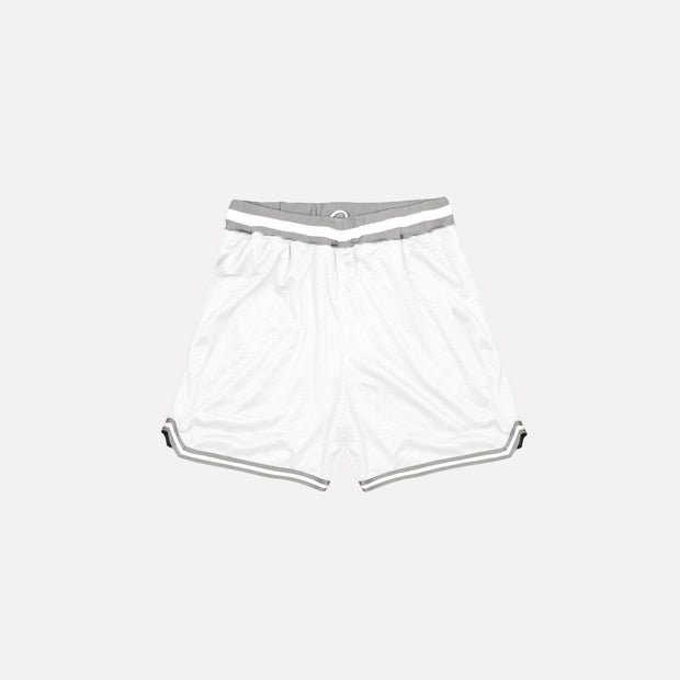 North & Acrux White Mesh Basketball Shorts