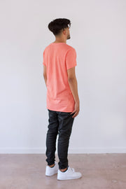 Salmon Unfinished Tee