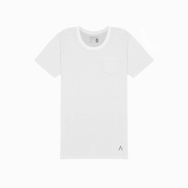 North & Acrux White U-Neck Tee
