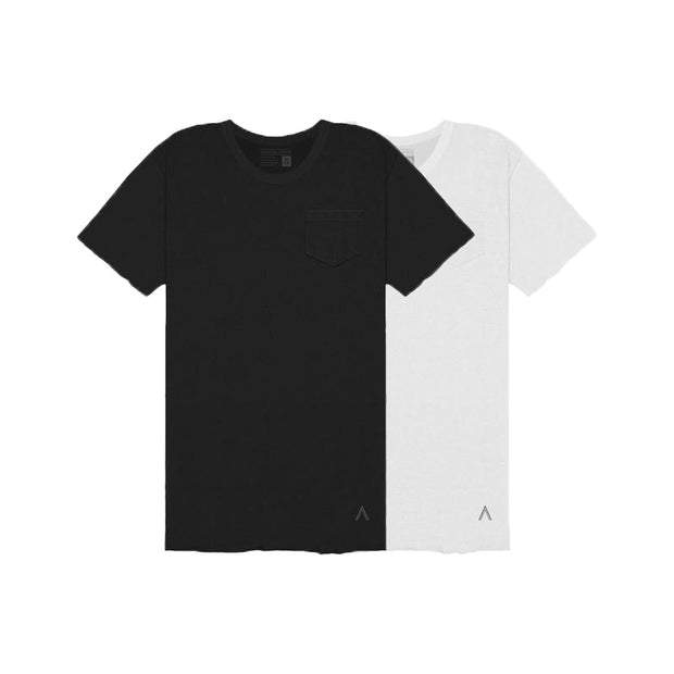 Black, White Unfinished Tee 2-Pack Special
