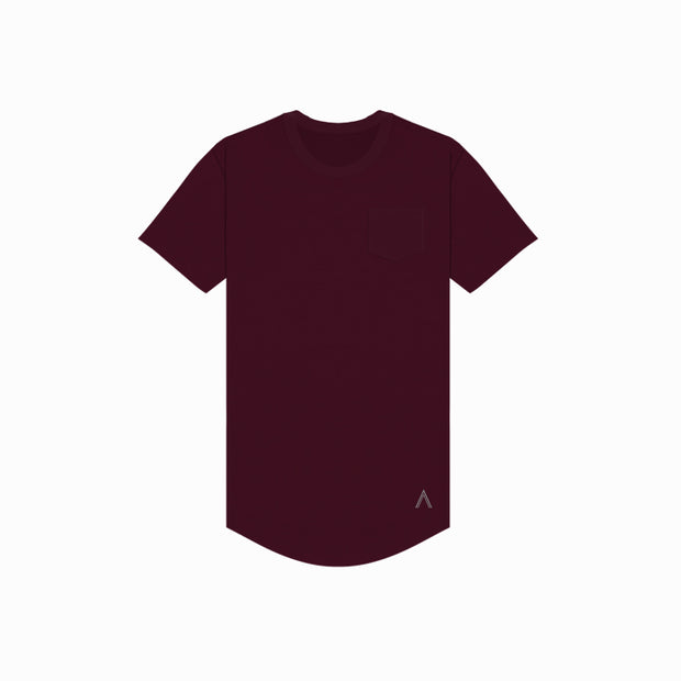 North & Acrux Maroon Premium Scoop Tee