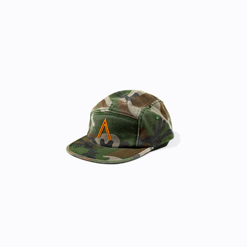 Camo Five Panel Logo Hat