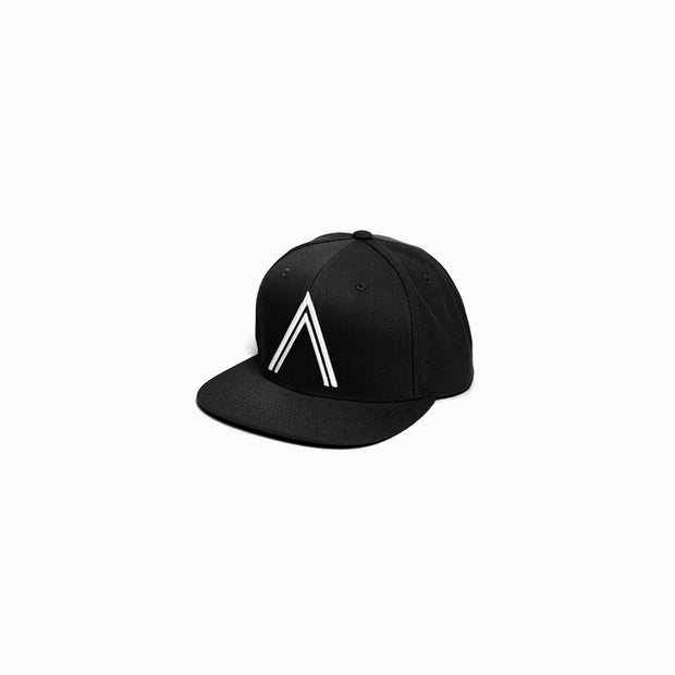 North & Acrux White on Black Snapback