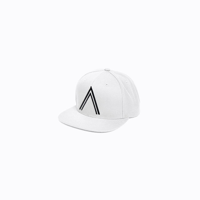 Black on White Logo Snapback