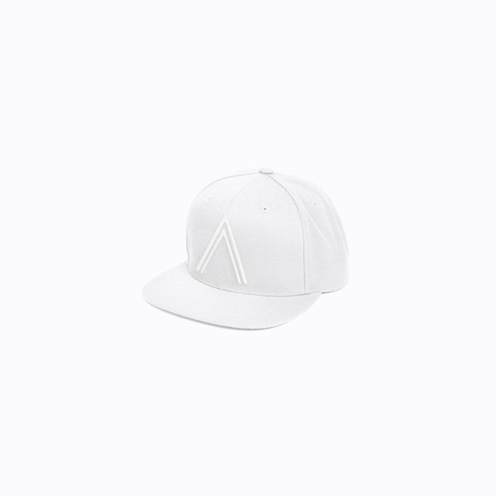 White on White Logo Snapback