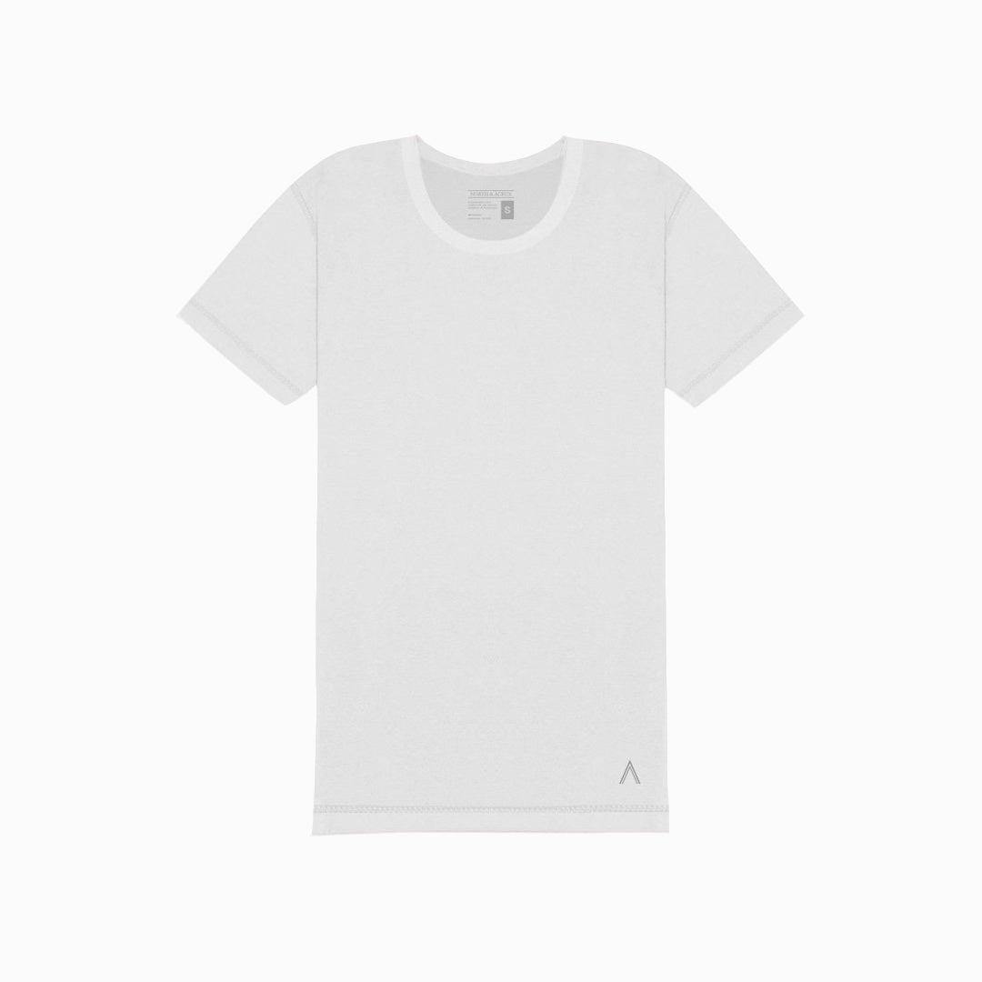 North & Acrux White Inside Out Tee