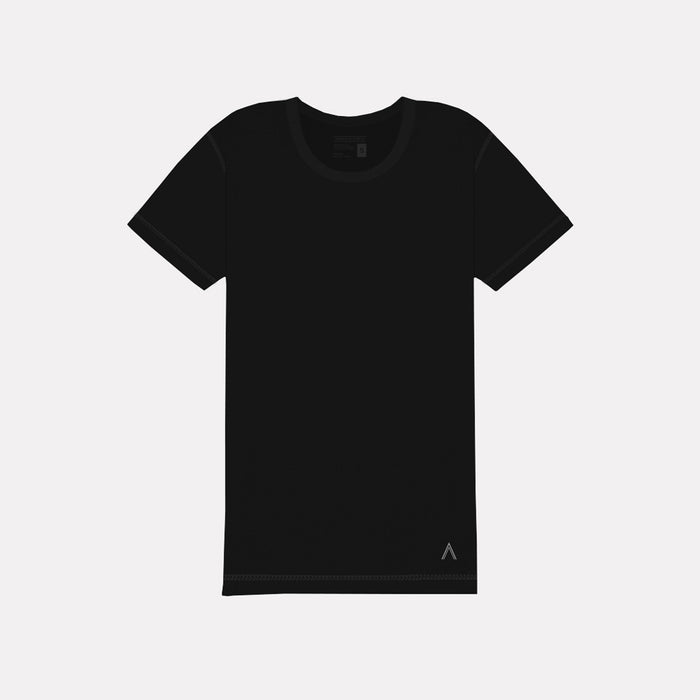 North & Acrux Black Inside-Out Sewn Tee