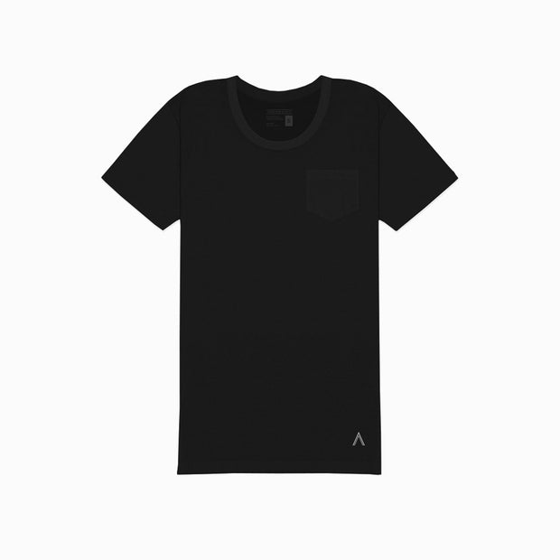 North & Acrux Black U-Neck Tee