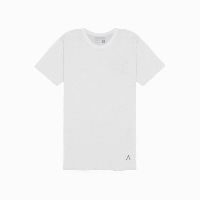 White Unfinished Tee