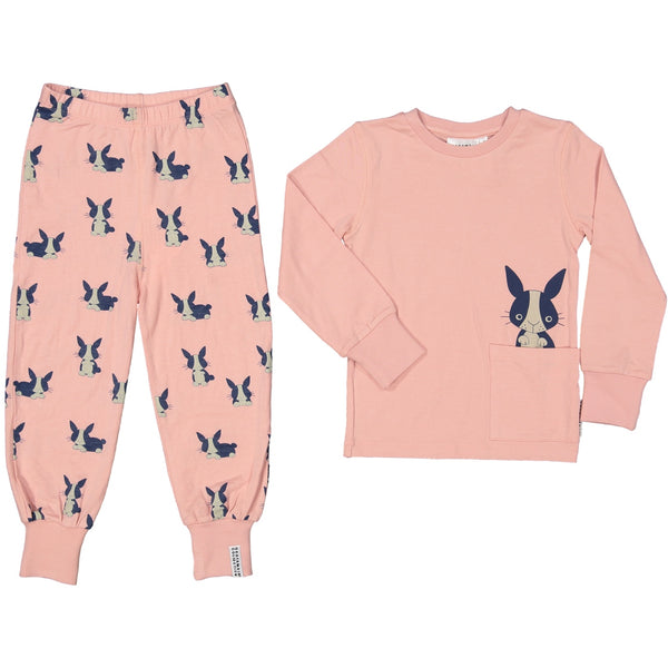 Geggamoja organic 2-pcs pajama set, Rabbit