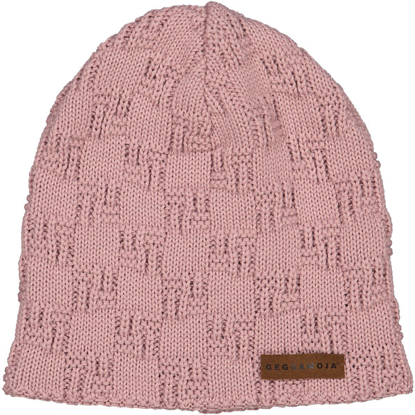 Geggamoja Knitted Beanie, Mellow Rose