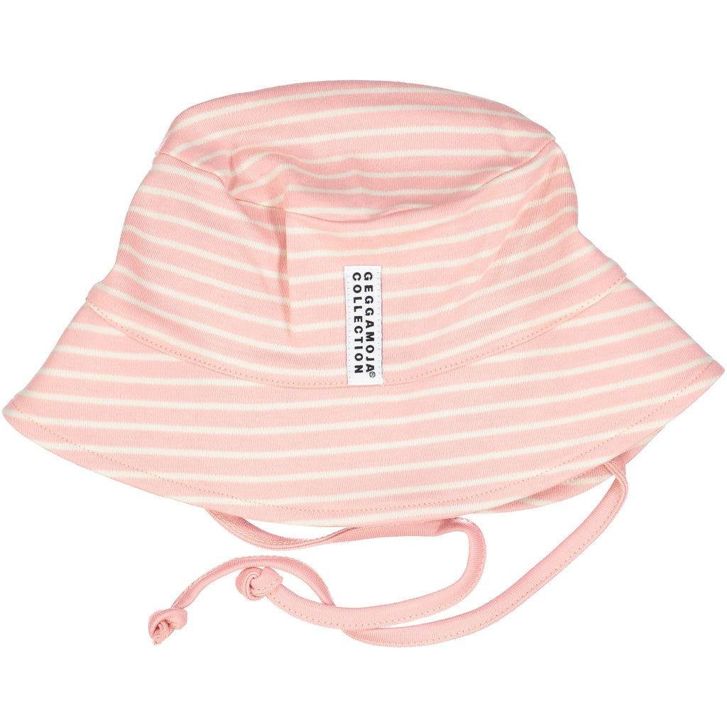 Geggamoja Summer Hat, Pink Stripes