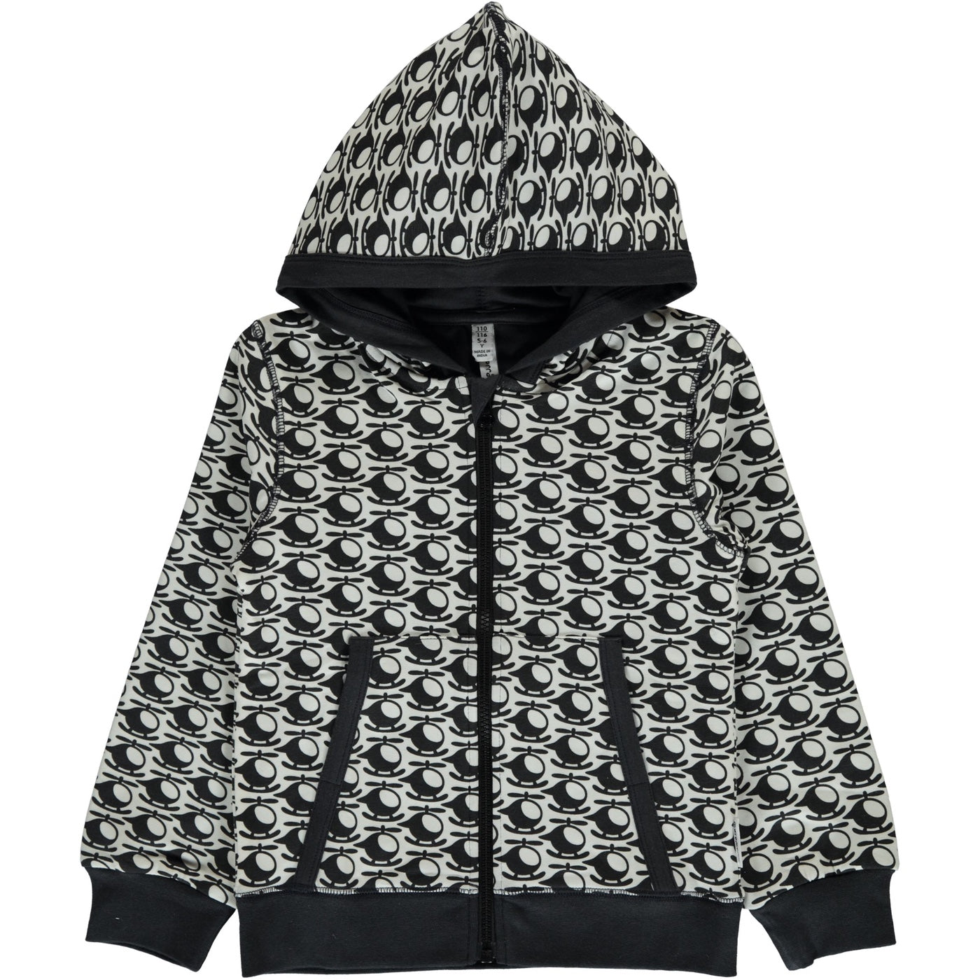 Maxomorra  Hooded Zipper Sweater, Helicopter