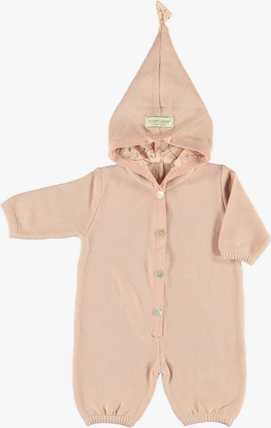 Okker-Gokker Rose Button Suit With Hood