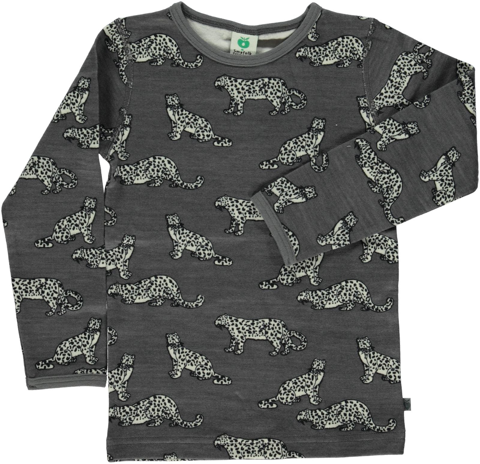 Smafolk Wool Mix T-Shirt - Leopard