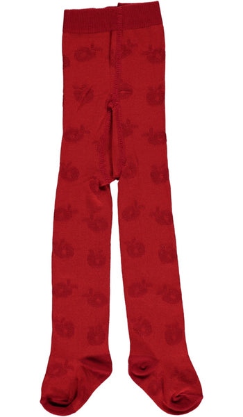 Smafolk Organic Apple Tights, Red