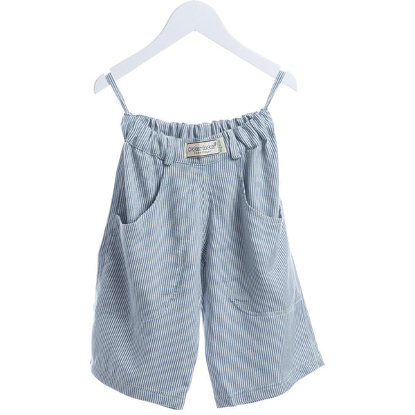 Okker-Gokker organic shorts, blue/white stripes <br>Size 2-6 years