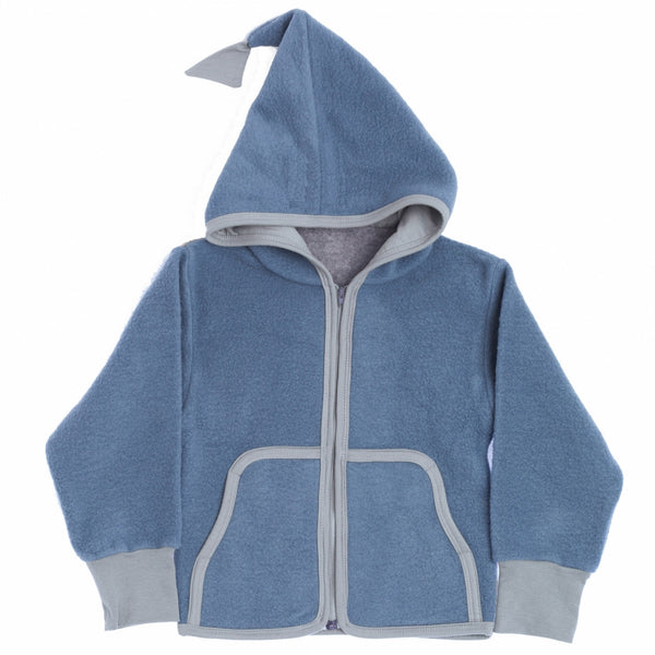 Okker-Gokker organic wool-fleece cardigan