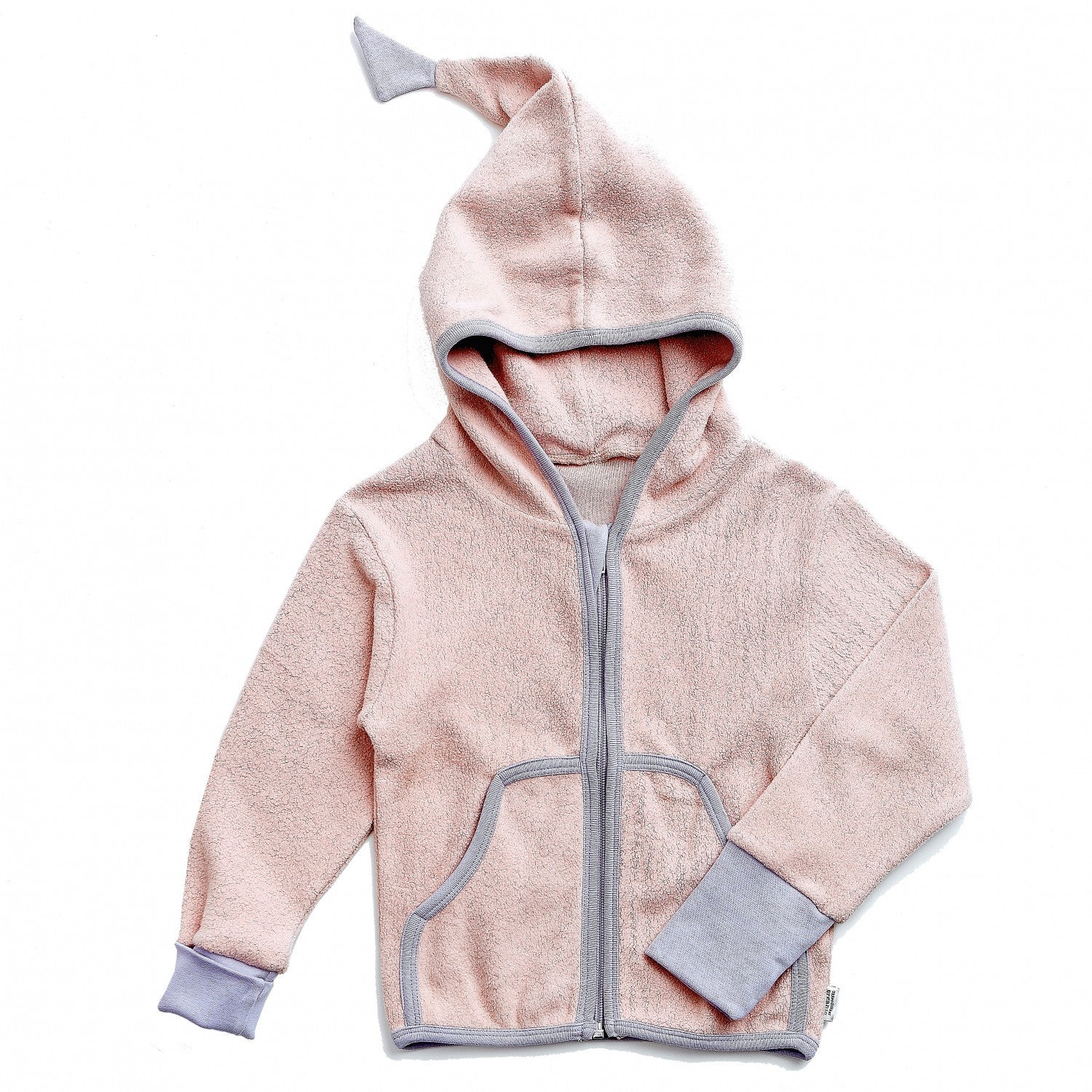 Okker-Gokker organic cotton-fleece cardigan, rose