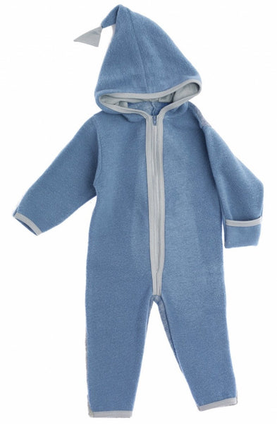 Okker-Gokker organic wool-fleece one-piece