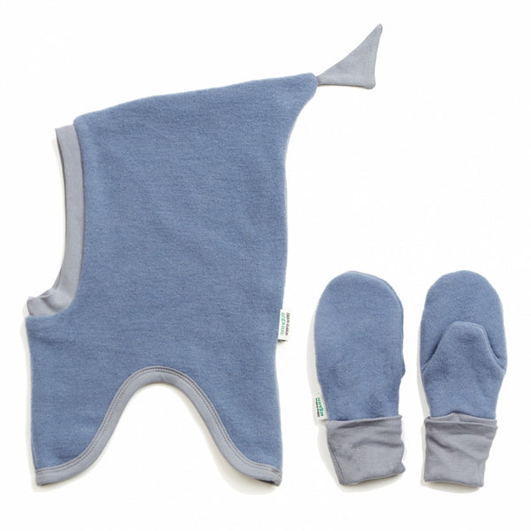 Okker-Gokker organic wool-fleece hat + glove set