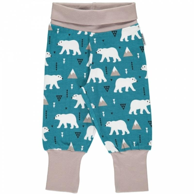 Maxomorra Organic Polar Bear Pants