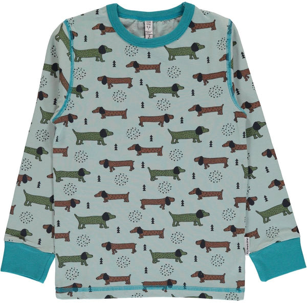 Maxomorra T-shirt L/S - Dotted Puppy